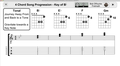 Four chord progression - B flat Major written in music symbols.png