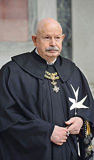 Giacomo dalla Torre del Tempio di Sanguinetto Prince and Grand Master of the Sovereign Military Order of Malta
