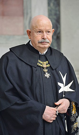 Grand Master (order) - His Most Eminent Highness Fra' Giacomo dalla Torre del Tempio di Sanguinetto, 80th Prince and Grand Master of the Sovereign Military Order of Malta (elected 2018)