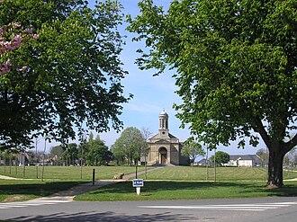 Amfreville, Calvados - The Square and Saint Martin church