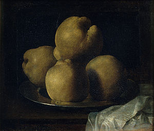 Francisco de Zurbarán - Still Life with Dish of Quince - Google Art Project.jpg