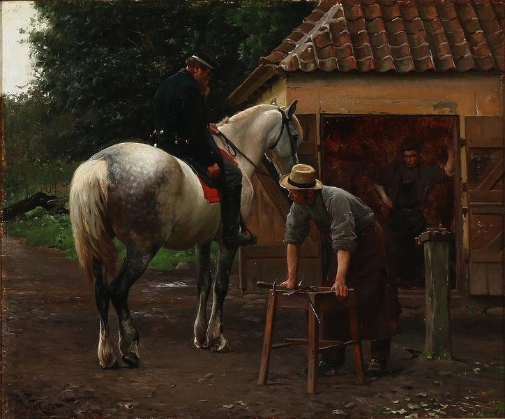 File:Frants Henningsen - Dansk soldat i samtale med en smed, antagelig motiv fra 1864 - 1889.png