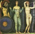 Franz von Stuck - The three goddesses Athena, Hera and Aphrodite, 1923.jpg