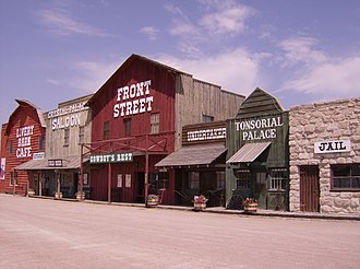National Register of Historic Places listings in Keith County, Nebraska - Image: Front Street, Ogallala, Nebraska, 2007