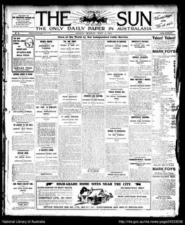 <i>The Sun</i> (Sydney) afternoon tabloid newspaper
