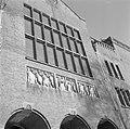 Frontispice op het Beursgebouw van Berlage aan het Damrak, Bestanddeelnr 254-5140.jpg