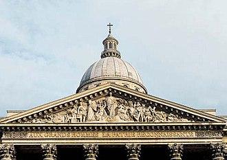 Edme Gaulle - Image: Fronton Panthéon 2