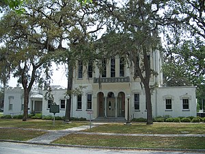 Clay County Courthouse (Florida) - Image: GCS FL crths old 01