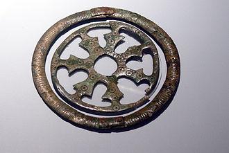 Zierscheibe - Alemannic Zierscheibe from Herbrechtingen (6th century)