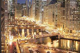 Chicagofloden i skumring