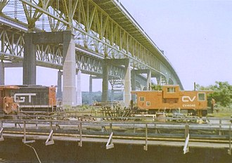 Central Vermont Railroad Pier - Central Vermont equipment on the north end of the pier in 1978