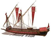 Venedikteki donanma müzesinden bir kadırga.