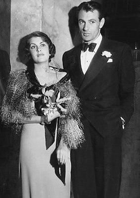 Gary Cooper and Veronica Balfe 1933