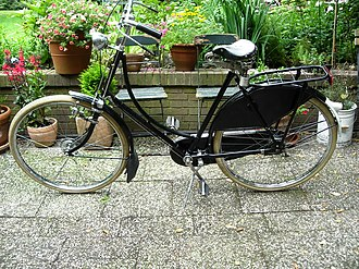 City bicycle - A vintage Omafiets, the Dutch ladies' bicycle