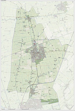 Bedum - Topographic map of Bedum, June 2015