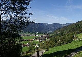 Bezau Place in Vorarlberg, Austria