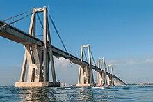 Il ponte General Rafael Urdaneta sul lago di Maracaibo, Venezuela