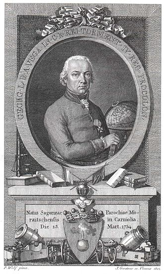 Jurij Vega - Image: Georg Freiherr von Vega 1802