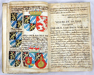 Thurnierbuch - Page from a mid-17th-century manuscript copy based on the 1578/9 Frankfurt edition