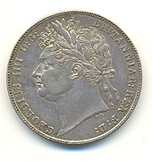 Half-crown of George IV, 1821 (Source: Wikimedia)