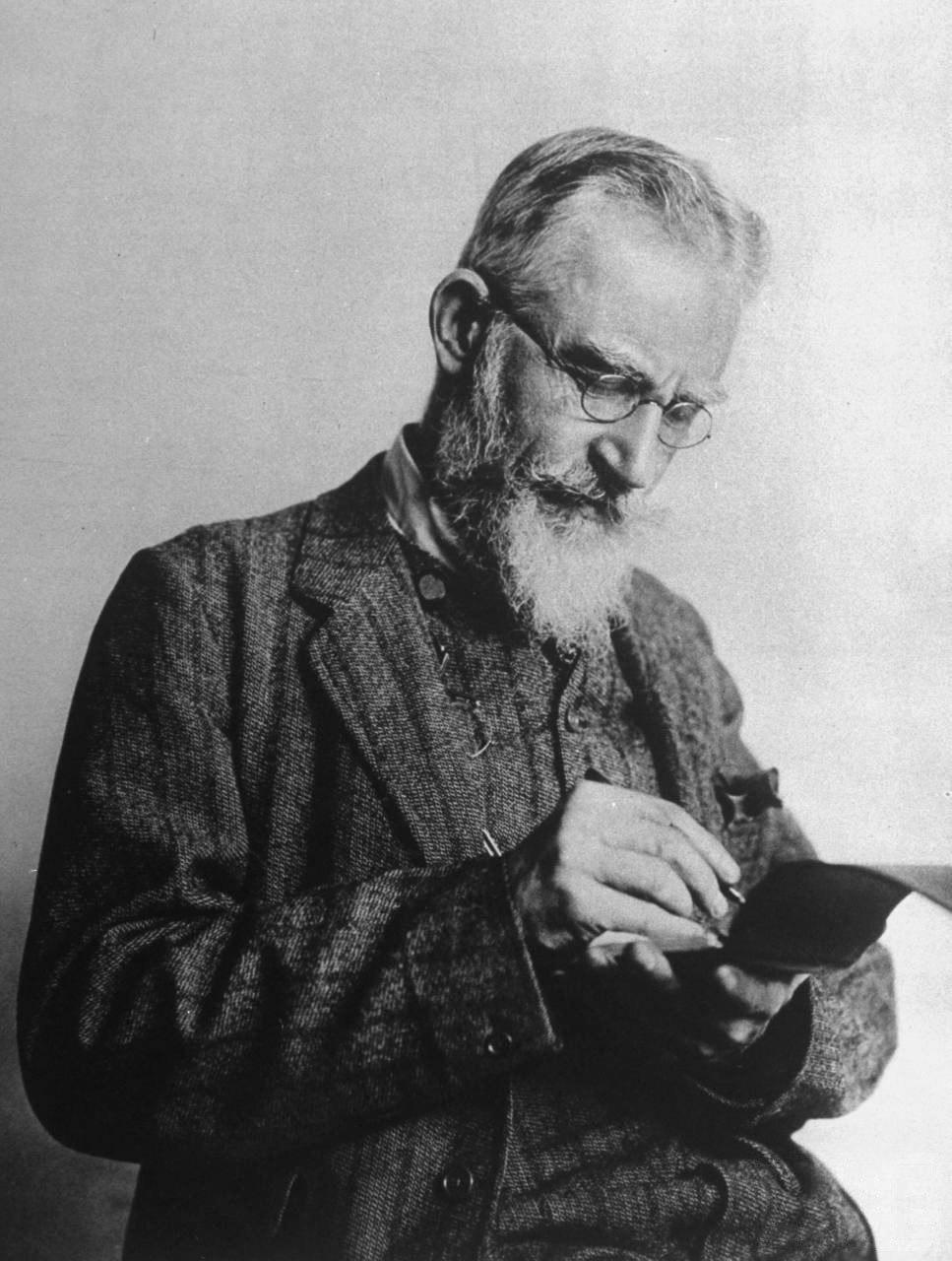 George Bernard Shaw notebook