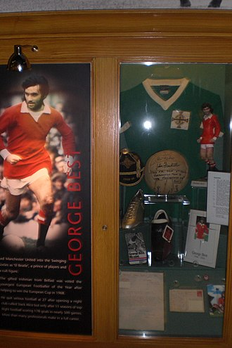 George Best - George Best memorabilia at the Manchester United museum at Old Trafford