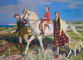George Spencer Watson - Four Loves I found, a Woman, a Child, a Horse and a Hound (1922)