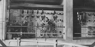 Georgetown Steam Plant - Workers at the plant, 1909.
