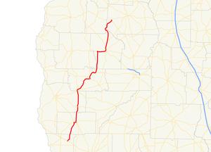 Georgia State Route 45 - Image: Georgia state route 45 map