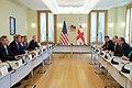 Georgian President Giorgi Margvelashvili Makes Opening Comments to Secretary Kerry at the Presidential Palace in Tbilisi (28093688356).jpg