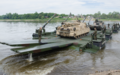 German M3 amphibious bridging vehicles 2015.png