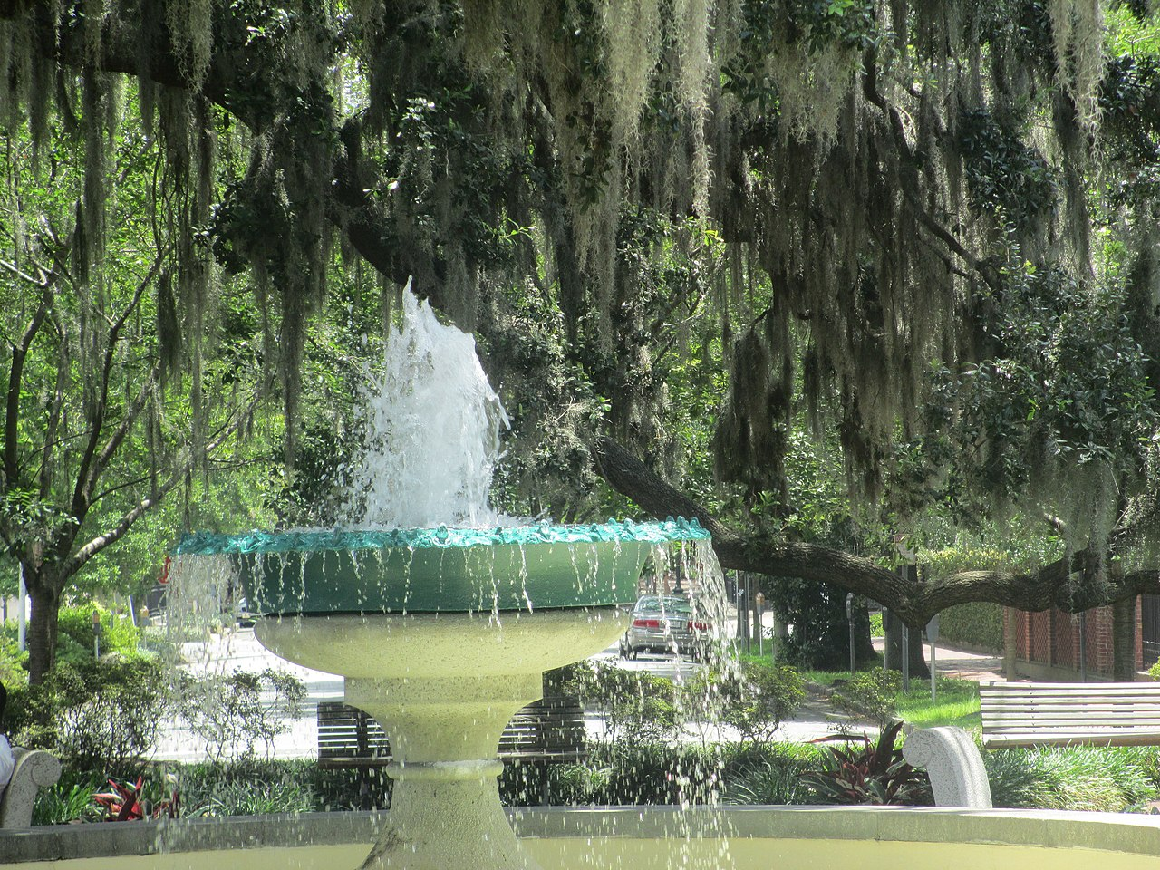 File German Memorial Fountain In Savannah Georgia Img