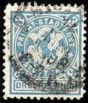 Germany Stuttgart 1890-99 local stamp 3pf - 14c used.jpg