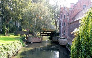 Gete river in Belgium