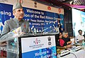 Ghulam Nabi Azad addressing at the closing function of Red Ribbon Express-III, in New Delhi. The Union Minister for Railways, Shri Pawan Kumar Bansal and the Minister of State for Health and Family Welfare.jpg