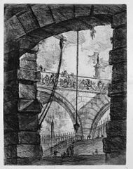 Le Carceri d'Invenzione, plate IV: The Grand Piazza