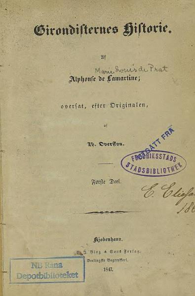 File:Girondisternes Historie - første Deel.djvu