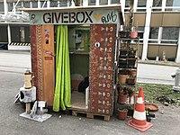 GiveBox an der Schwarztorstrasse 96 im Januar 2020.jpg