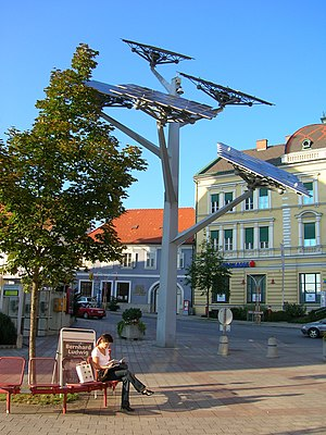 "The ""solar tree"", a symbol of Gleisdorf"