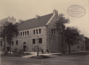Glessner House in 1887 as construction is bein...
