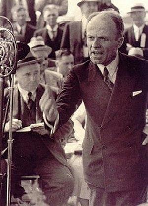 Adélard Godbout - Godbout launching the 1939 campaign in Saint-Hyacinthe