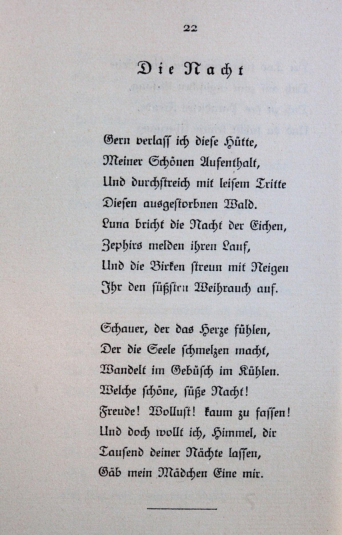 Goethe liebesgedicht LIEBESGEDICHTE ❤