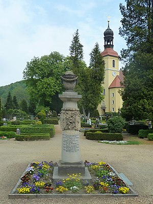 Johann Eleazar Zeissig - Schenau's grave in Großschönau