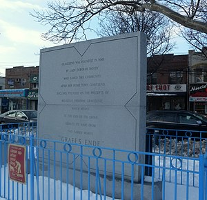 Deborah Moody - Memorial in Lady Moody Square, Gravesend, Brooklyn
