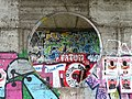 Graffitied Underpass with Pedestrian - Kiev - Ukraine (41902975650).jpg