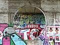 Graffitied Underpass with Pedestrian - Kiev - Ukraine (41902975650).jpg