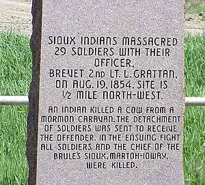Grattan massacre - Grattan Massacre marker, 2003.