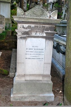 Grave of Adolf Klügmann at the Cimitero acattolico Rome (1).jpg