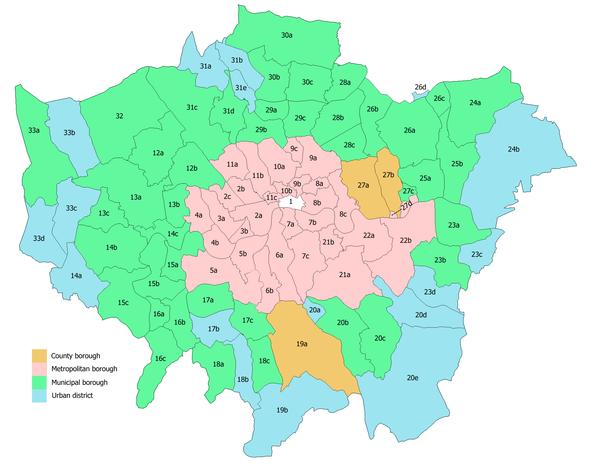 Londra Cartina Zone.Borghi Di Londra Wikipedia