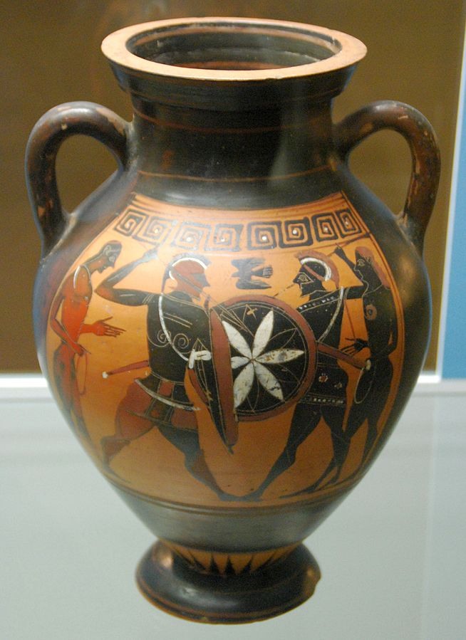 attic black-figure belly amphora